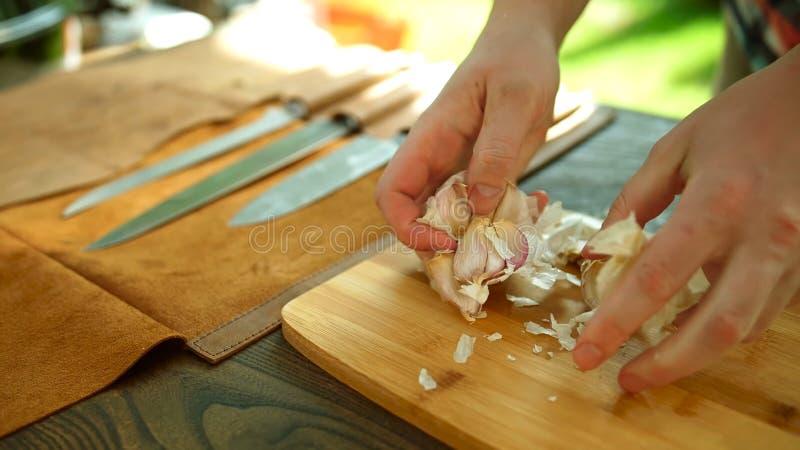 Peladura del ajo Arom?tico, salud foto de archivo libre de regalías