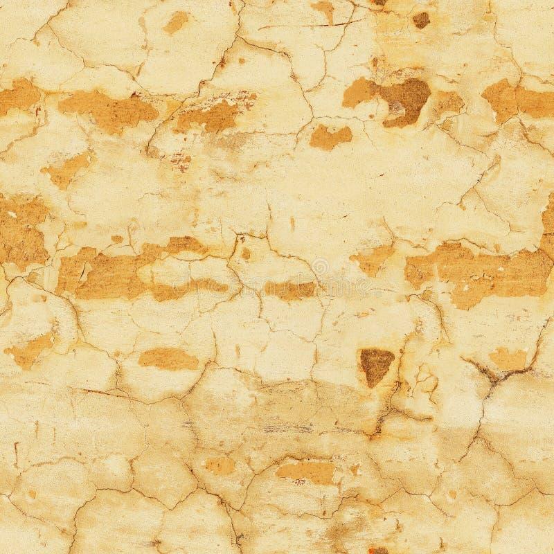 Peladura del modelo inconsútil de la pared amarilla fotografía de archivo libre de regalías