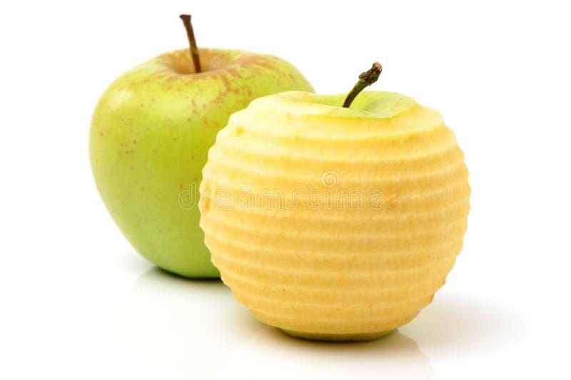 Peladura verde de Apple foto de archivo