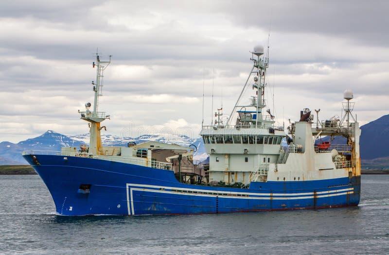 Pelagic Fishing Vessel. Icelandic offshore commercial pelagic fishing vessel stock photography