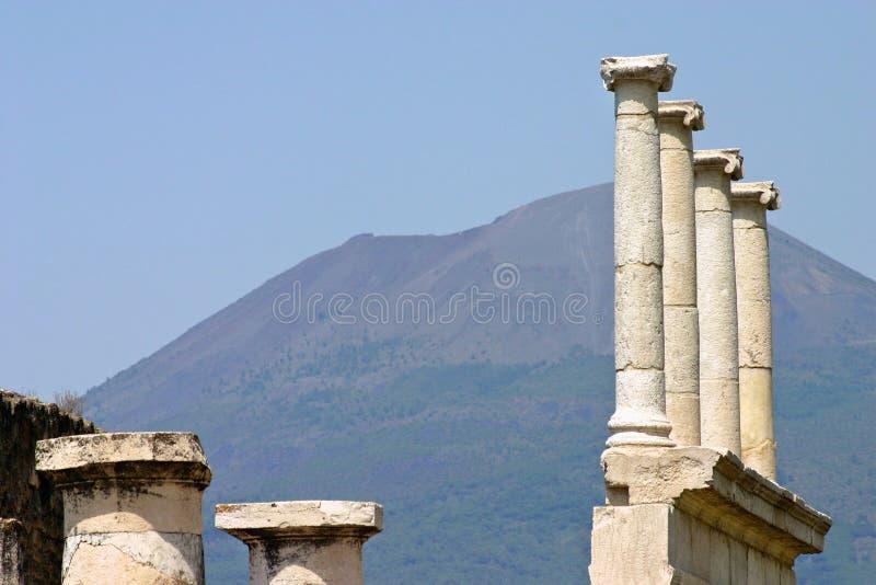 pelare pompei arkivfoton