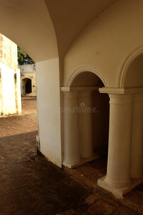 Pelaren för korridor för Manora fort den åldriga arkivfoto
