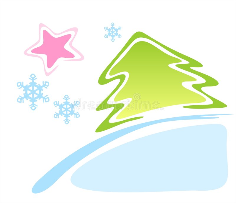 Pele-árvore e estrela ilustração stock