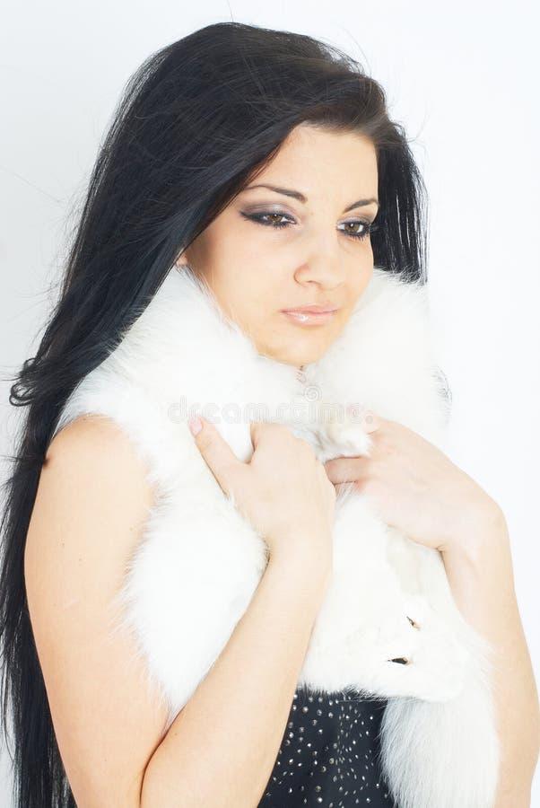 Pele branca vestindo da menina bonita imagem de stock royalty free