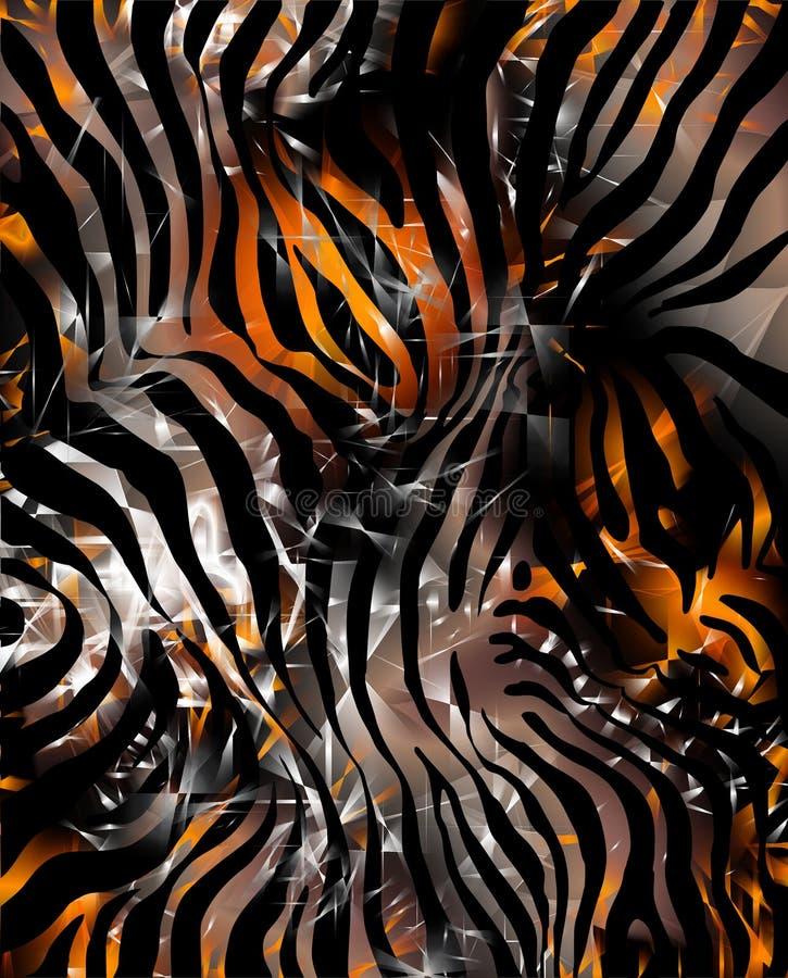 Pele da zebra ilustração royalty free