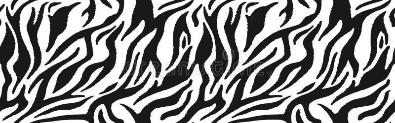 Pele da zebra - pele da listra, teste padrão animal Repetindo a textura ilustração do vetor