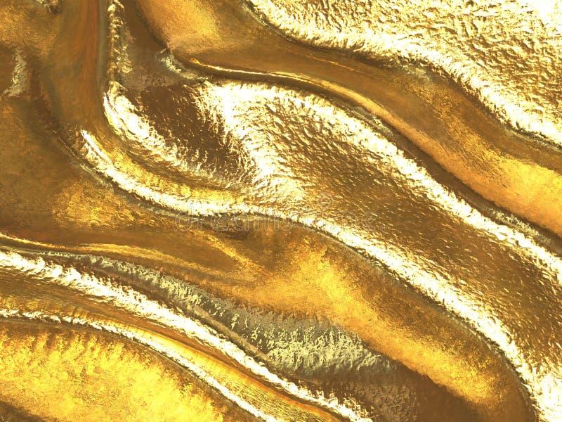 Pele dourada ilustração do vetor