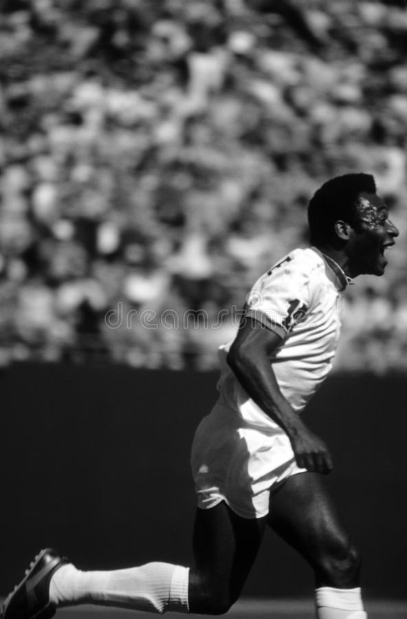 Pele Soccer Player fotografia royalty free