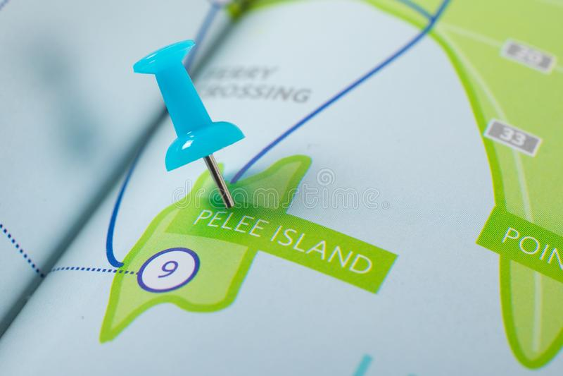 Pelee海岛安大略加拿大地图 免版税库存图片