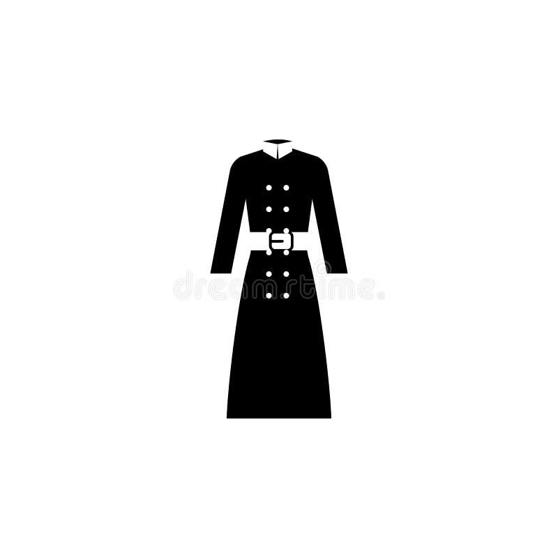 peleryny ikona na białym tle Odziewać, ubrania lub moda dla mężczyzna kobiety ikony wektoru ilustraci ilustracji