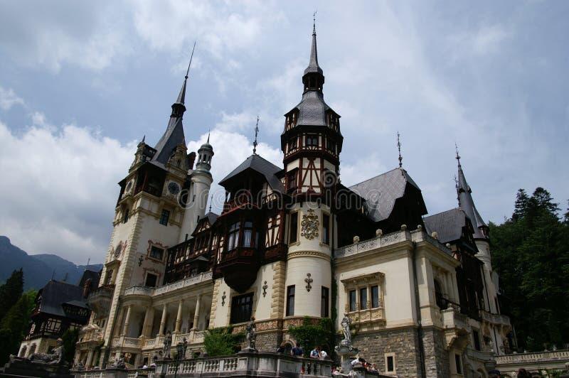 Peles Castle. View of Peles Castle, Romania royalty free stock photo