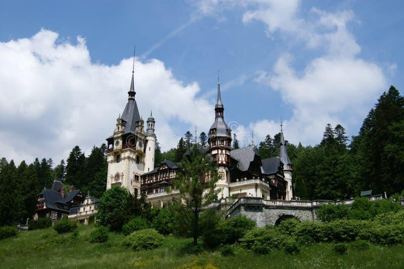 Peles Castle. View of Peles Castle, Romania royalty free stock photos