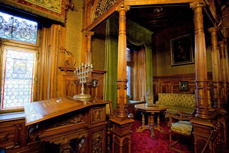 Peles castle stock photos