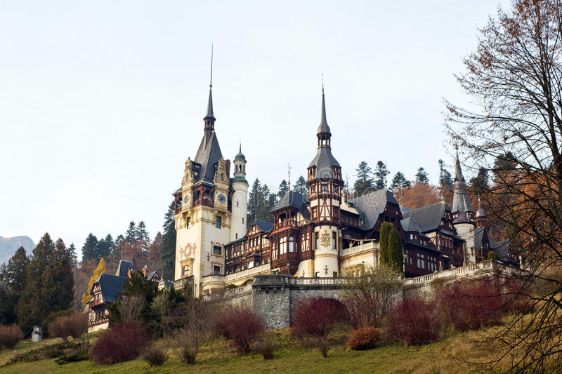 Download Peles Castle II stock photo. Image of gothic, artistic - 22418940