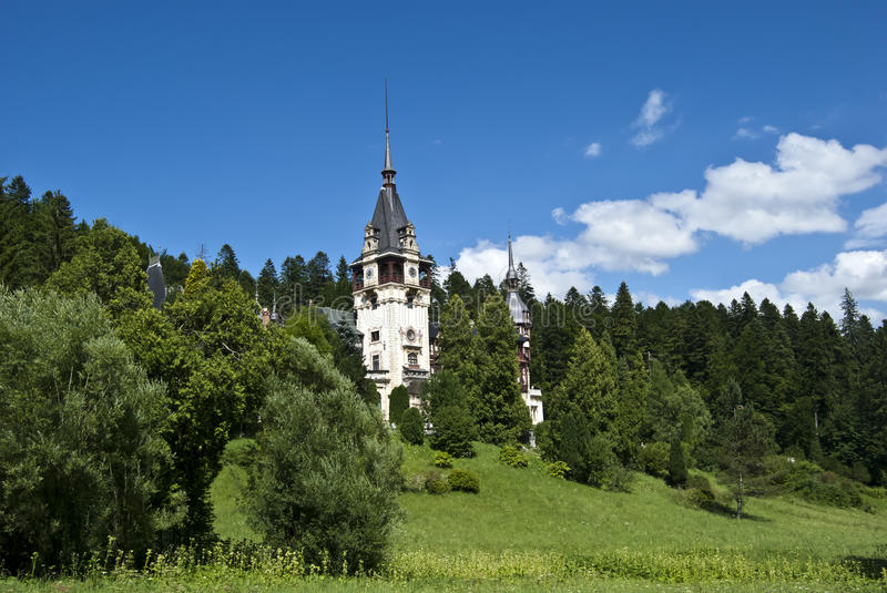 Peles Castle, Romania stock images