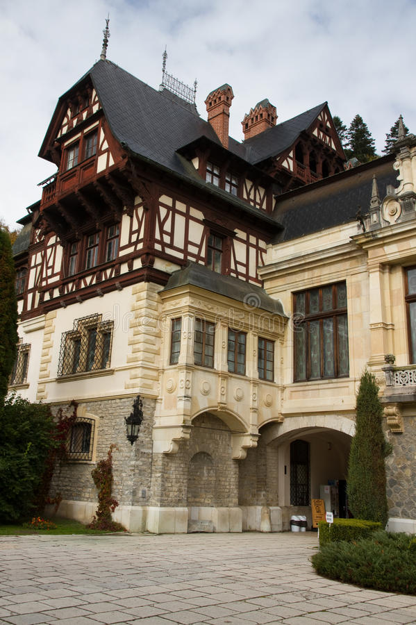 Peles Castle, Sinaia, Romania. Travel in Romania. Sinaia. Peles Castle royalty free stock images