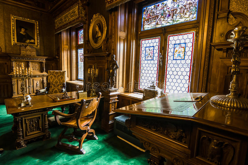 Peles Castle, Sinaia, Romania royalty free stock photography