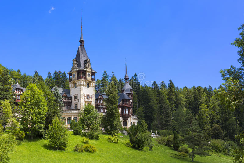 Peles castle, Sinaia, Romania stock images