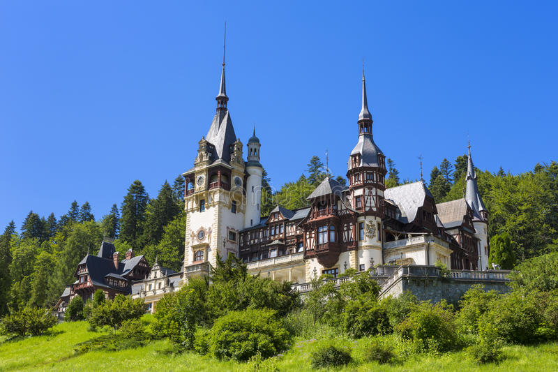 Peles castle, Sinaia, Romania. Given its historical and artistic value, Peles castle is one of the most important and beautiful monuments in Europe royalty free stock photography