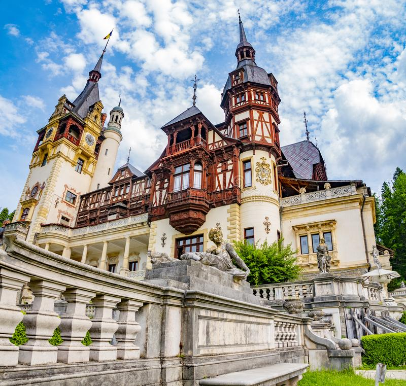 Peles castle. Sinaia, Romania June, 9th, 2019. royalty free stock image