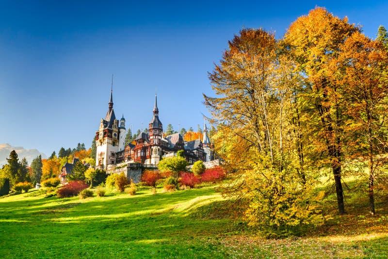Peles Castle, Sinaia - Romania stock images