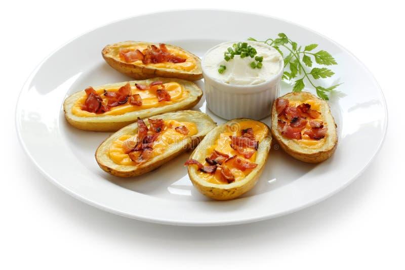 Peles de batata, aperitivo imagem de stock royalty free
