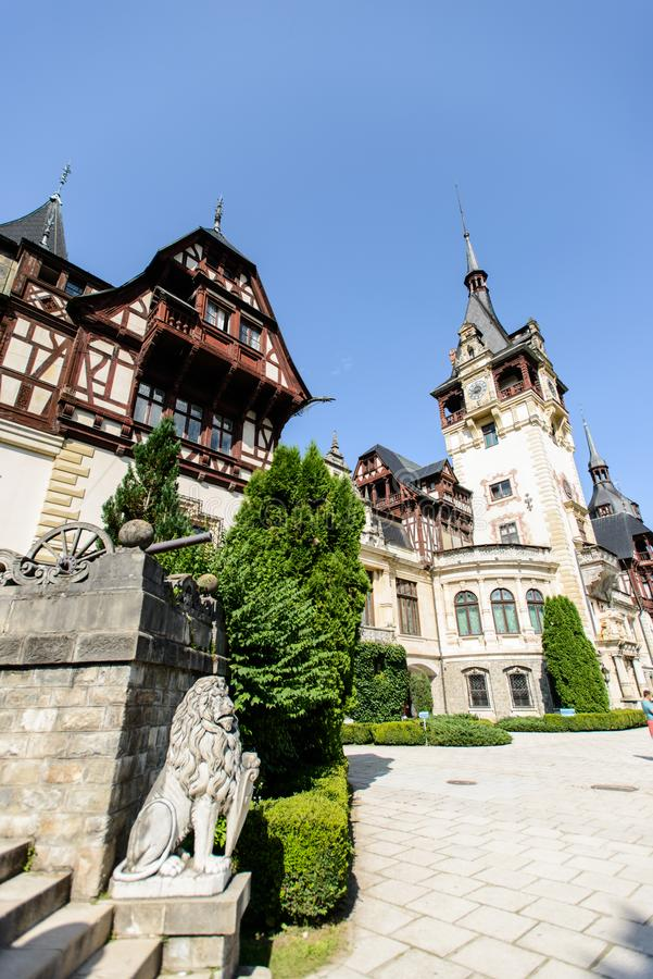 Peles palace castle in Sinaia, Romania royalty free stock photography