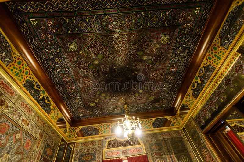 Peles palace castle in Sinaia, Romania royalty free stock photo