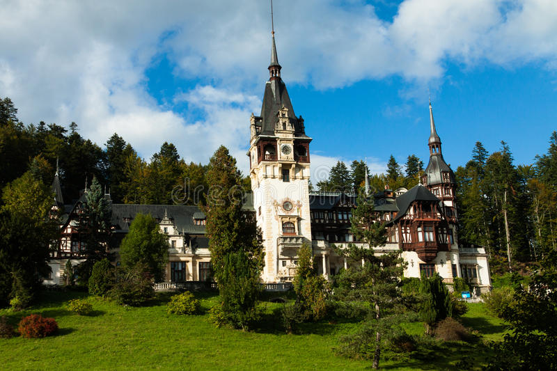 Download Pelesh Castle editorial image. Image of tower, romania - 35472980