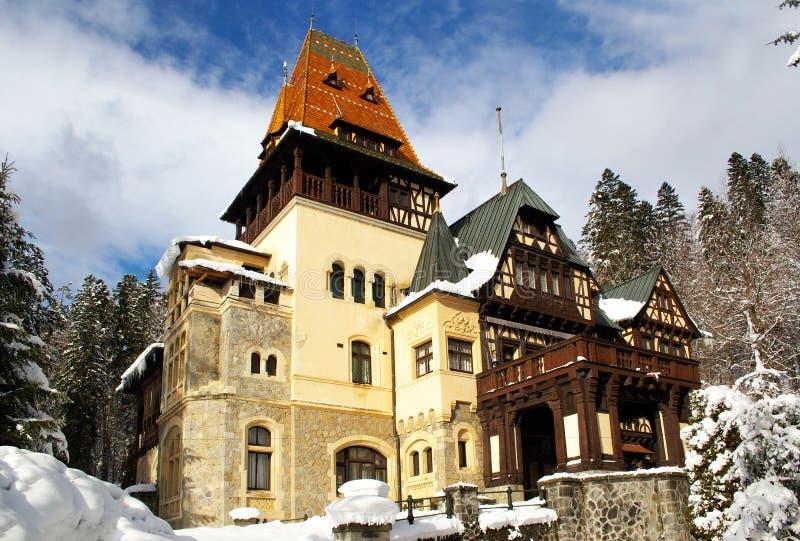 Peleshor Palace stock photo