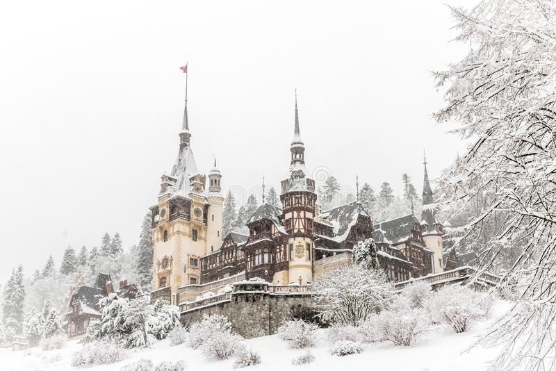 Peleskasteel Roemenië royalty-vrije stock fotografie