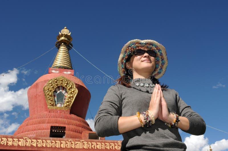 Pelgrim in Tibet royalty-vrije stock afbeelding