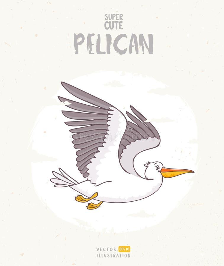 Pelican cartoon stock illustration