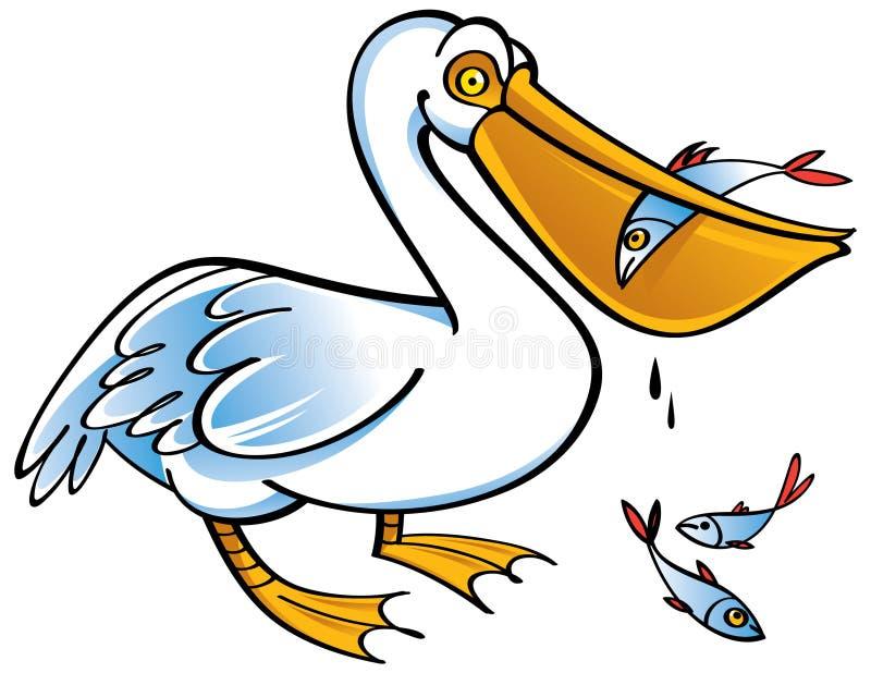 Pelicano ilustração royalty free
