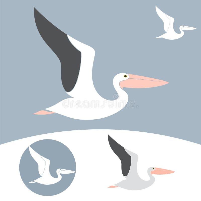 Pelicano ilustração stock