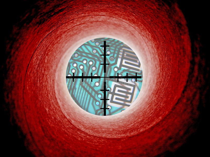 Peligro cibernético del ataque de Ransomware imágenes de archivo libres de regalías