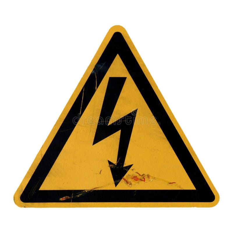 Peligro de la descarga eléctrica de la muerte foto de archivo libre de regalías