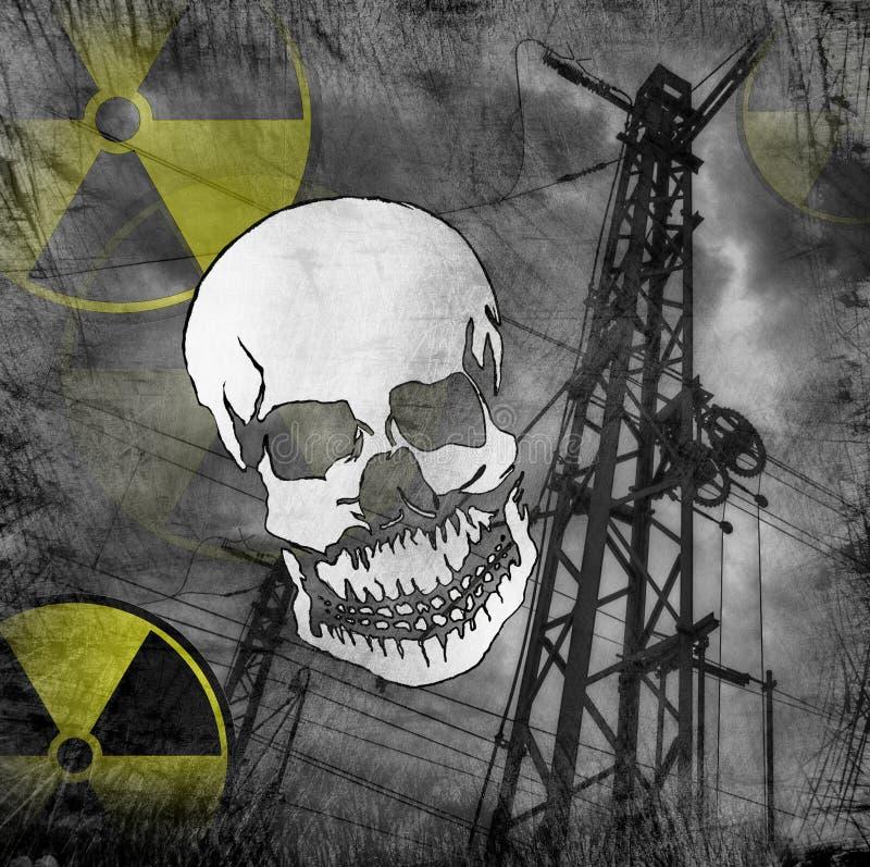 Peligro de la radiación foto de archivo