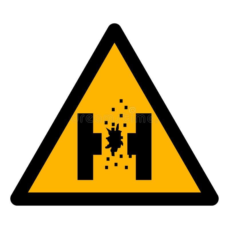 Peligro del aislante de la muestra del símbolo del metal fundido en el fondo blanco, ejemplo EPS del vector 10 libre illustration