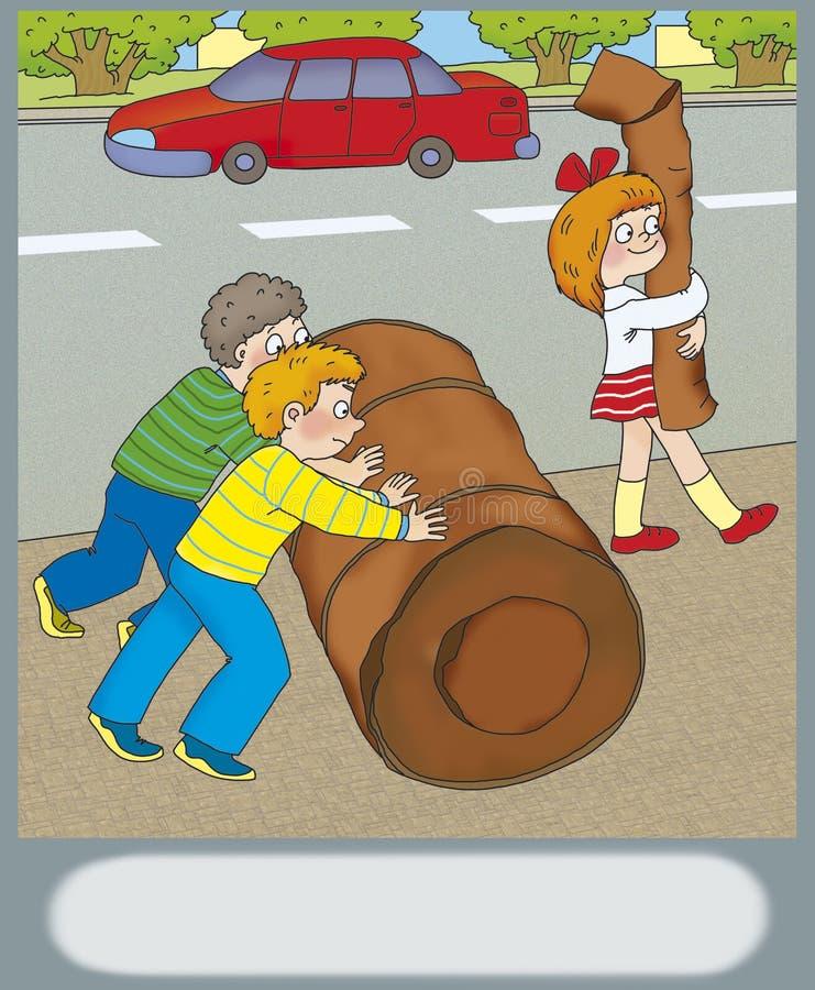Peligro del camino libre illustration
