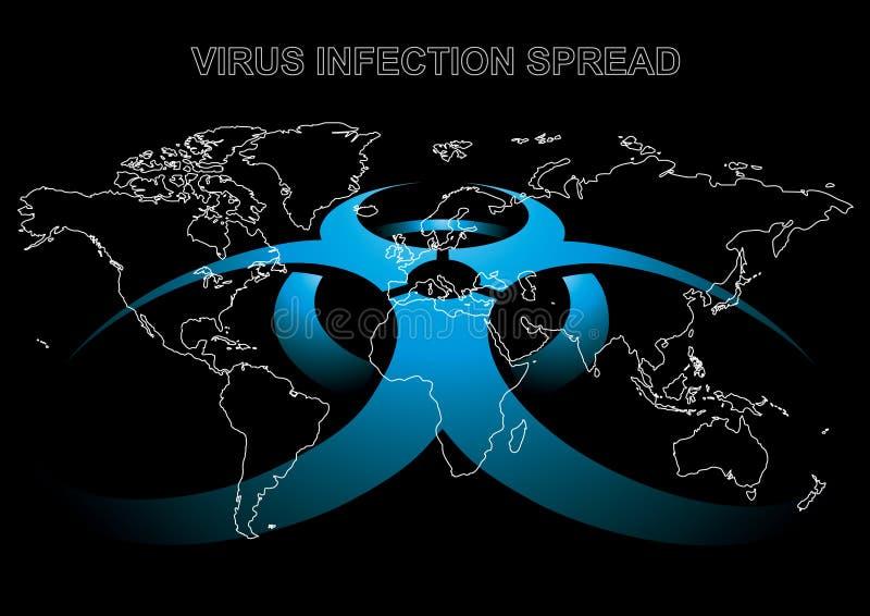 Peligro del virus ilustración del vector