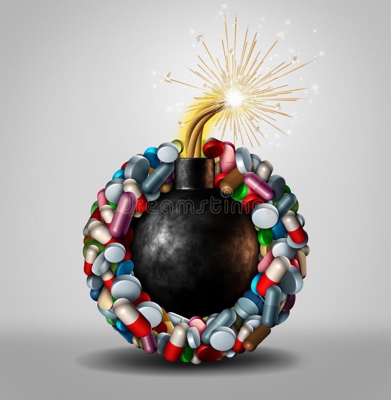 Peligro farmacéutico libre illustration