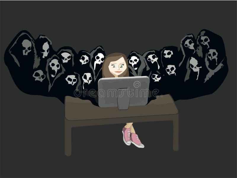 Peligro social de la red stock de ilustración