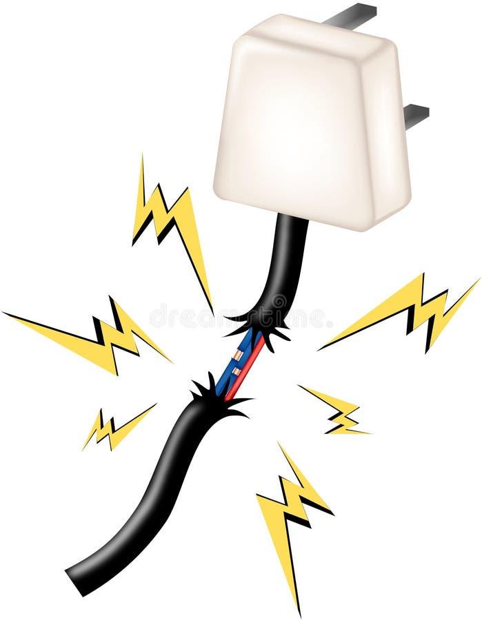 Peligros de la electricidad stock de ilustración