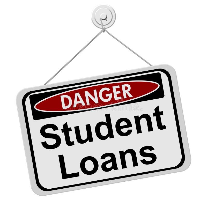 Peligros del tener el estudiante Loans stock de ilustración