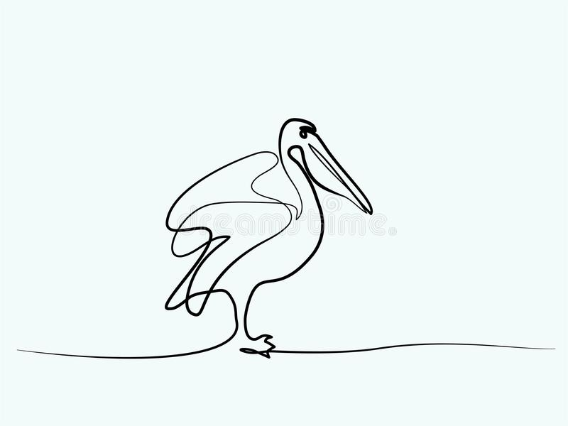Pelikaan minimalistisch symbool stock illustratie