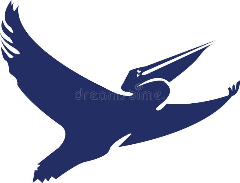 pelikan logo ilustracji