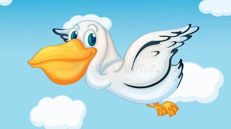 Pelikana latanie ilustracja wektor