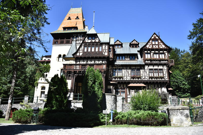 Pelisor Castle στοκ εικόνες