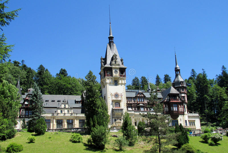 Pelisor Palace in Sinaia, Romania royalty free stock image